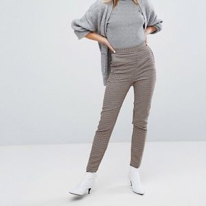 🌟NWOT🌟 Monki check houndstooth slim leg pants